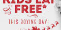Kids Eat Free on Boxing Day – Frankie & Benny's