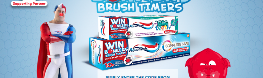 15,096 x Aquafresh Brush Timer Kits