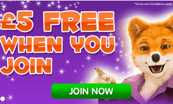 £5 Free From Foxy Bingo – No Deposit!