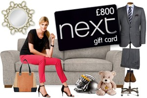 Win a £800 Next gift card – Ends Wednesday