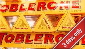 Free Toblerone Bars – Back again!