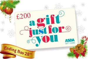 Win a £200 ASDA gift card – Ends tomorrow!