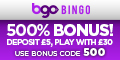 BGO Bingo – Deposit £5 and Play with £30