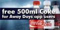Free 500ml Bottle of Coca Cola