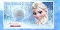 Frozen Photo Christmas Postcards