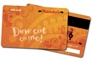 5 x Nando's £50 Gift Cards – Ends Tomorrow!