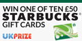 10 x £50 Starbucks Gift Cards