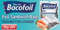 50p off Bacofoil Sandwich Bags