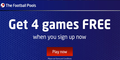 Football pools – four games FREE