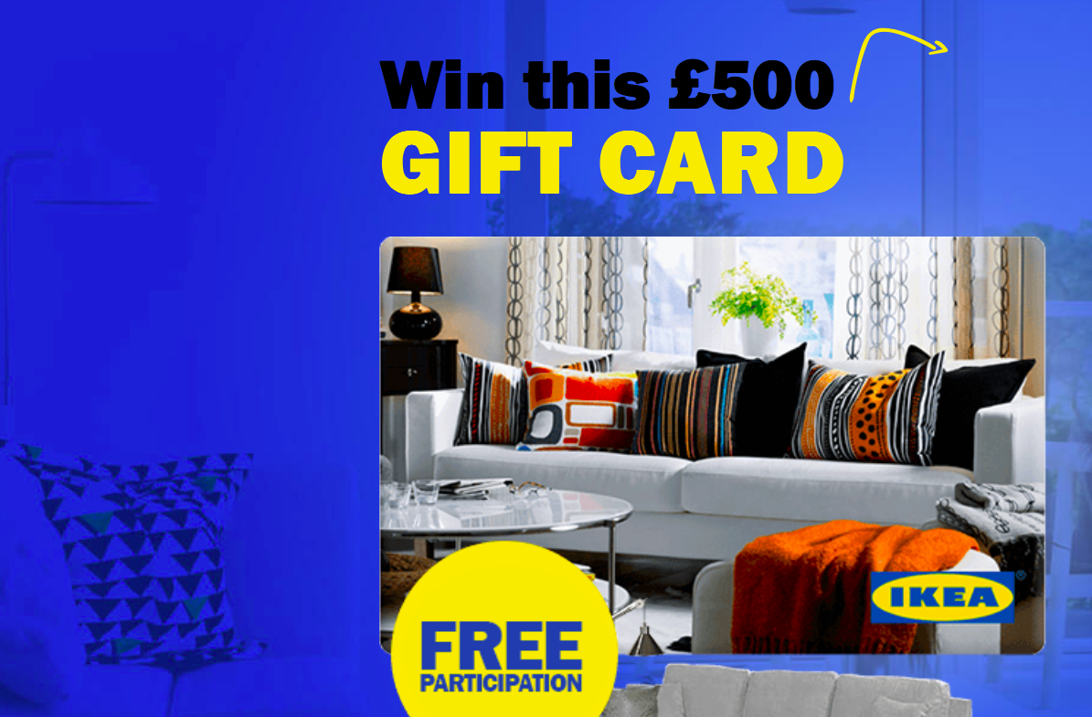win a 500 ikea gift card free stuff. Black Bedroom Furniture Sets. Home Design Ideas