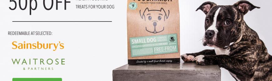 50p off Pooch & Mutt Dog Food & Treats