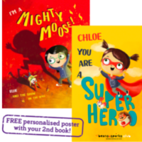 Free Personalised Kids Book & Poster (Worth £14.99)