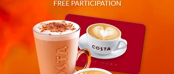 Win a £100 Costa Coffee Gift Card