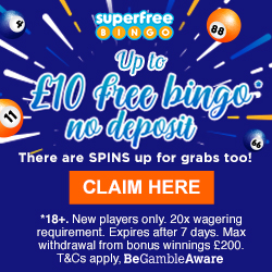 Up to £10 Free Bingo Money- No Deposit!