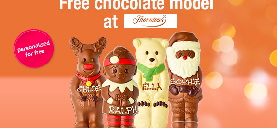 Free Thorntons Personalised Chocolate Christmas Elf