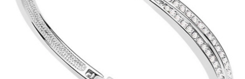 White Gold Bangle (Worth £79.99) – 93% Off Today!