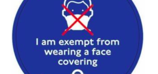 Free Face Covering Exemption Badge