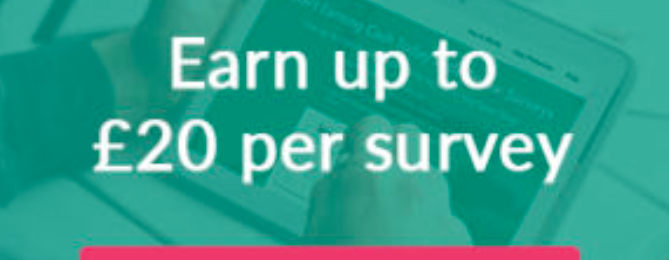Earn up to £20 Per Survey In Your Spare Time!